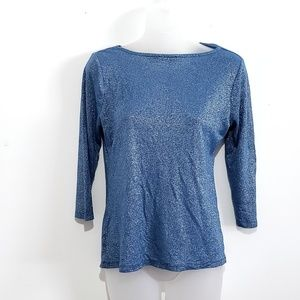The Limited Tops - Vintage The Limited Metallic Twist Knot Neckline